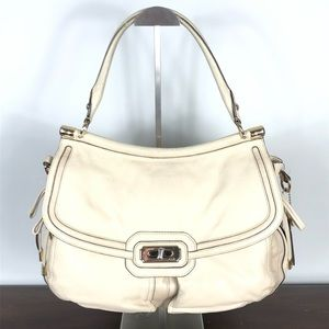 Coach Chelsea Flagship Leather Satchel Ivory